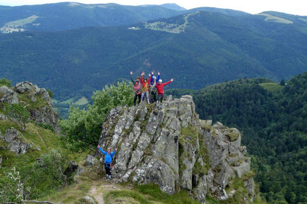 Scrambling up the Arete des Spitzkopf, Vosges